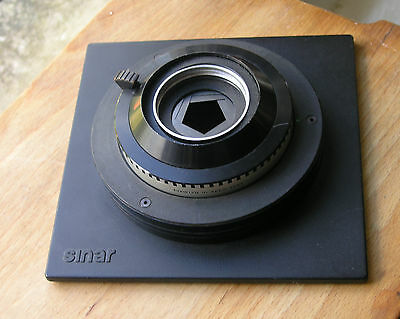 Sinar earlier DB  size 1 mount manual set lens board 5.6 to 45 16.8mm step out