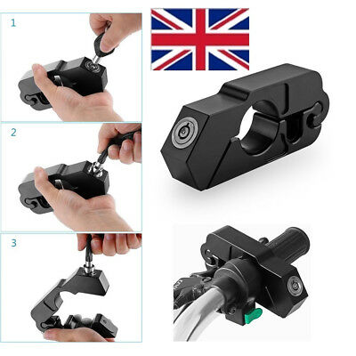 Motorcycle Grip Caps-Lock Scooter Handlebar Brake lever Anit Theft Security Lock
