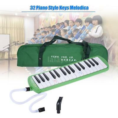 QIMEI 32 Piano Style Keys Melodica Instrument for Beginner Kids Green Y4E3