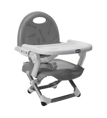 Chicco Pocket Snack Booster Seat - Silver Brand New FREE NEXT DAY DELIVERY