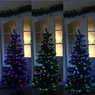 Black Fibre Optic Twinkling Christmas Tree  – various sizes. FREE UK DELIVERY!