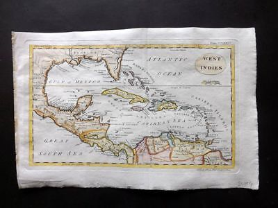 Encyclopedia Britannica 1801 Hand Col Map. West Indies