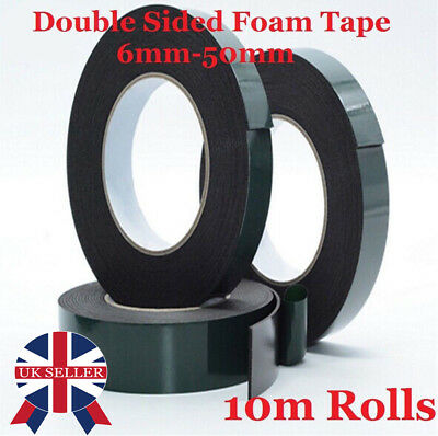 Black Super Strong Sticky Double Sided Waterproof Adhesive Foam Car Body Tape UK