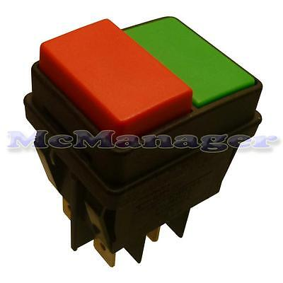 DPST Water Proof Push Button Switch 2 Pole Red/Green
