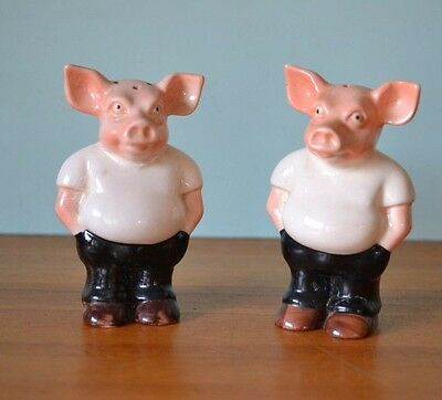 Vintage Rising Hawk Pig salt and pepper shakers pigs PUR1