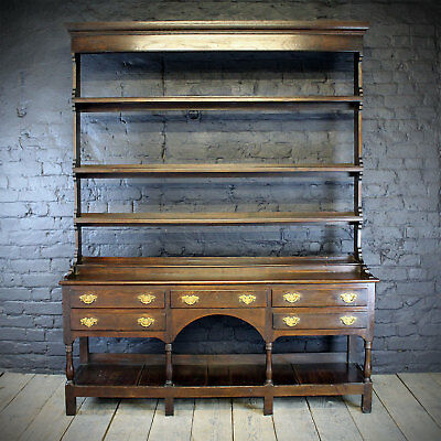 18th Century farmhouse oak Pot Cupboard Dresser