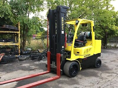 2011 Hyster 12,000 Pound Forklift Triple Mast For Ways