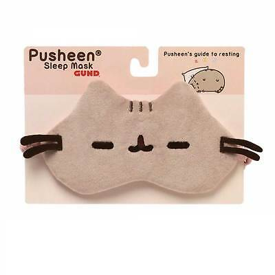 Pusheen the Cat Sleep Mask OFFICIAL Quality on Gift Card Gund Cute Kawaii