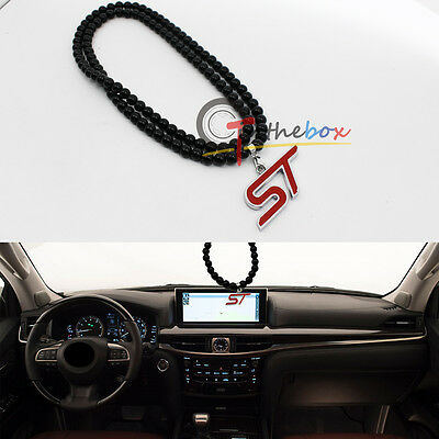 Red ST Rearview Mirror Hanging Charm Pendant Ornament For Ford Focus Fiesta etc