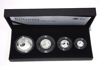 2008 Britannia Silver Proof  Coin Set Royal Mint Boxed & Certified