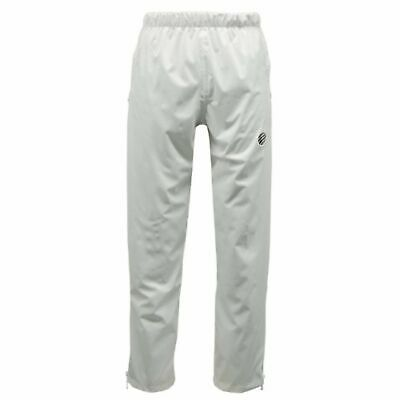 Green Play Bowls Over-Trousers Waterproof Unisex Lined Zipped Bowling White