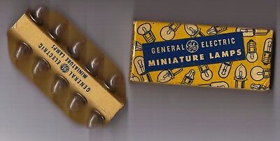 VINTAGE General Electric GE miniature lamps TEN No. PR9 flashlight bulbs tested