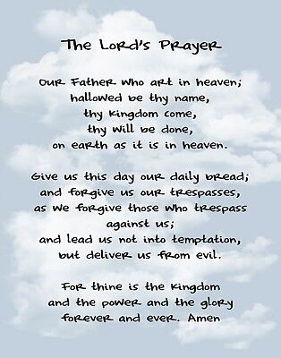 The Lords Prayer / Christian Christianity 11 x 14 / 11x14 GLOSSY Photo Picture