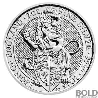 2016 Silver Great Britain Queen's Beasts (The Lion) – 2 oz