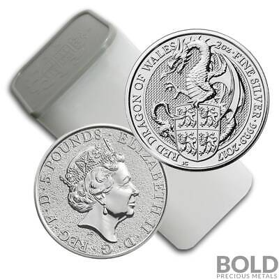 2017 Silver Great Britain Queen's Beasts (The Red Dragon) - 2 oz (10 Coins)