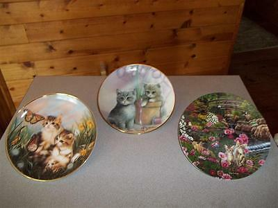Cat collector plates- lot of 3