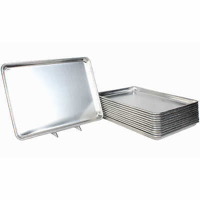 "Restaurant Essentials Set of 12 Full Size Sheet Baking Pans 18"" x 26"" NEW"