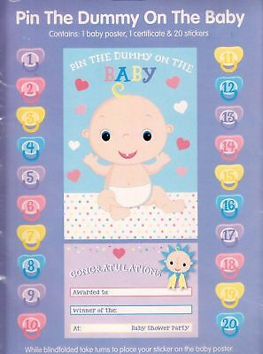Pin The Dummy On The Baby Game Baby Shower Maternity Games
