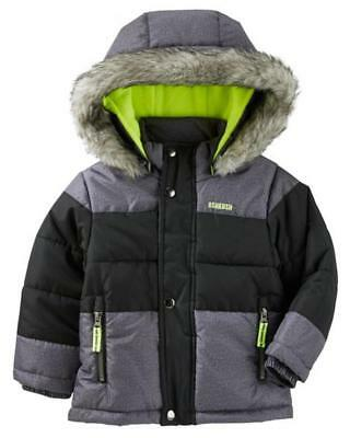 Osh Kosh B'gosh Infant Boys Heavyweight Snorkel Coat Size 12M 18M 24M