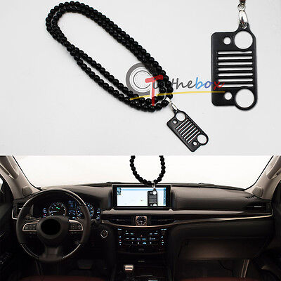 JDM Front Bumper Grilel Shape Rearview Mirror Hanging Ornament Pendant for Jeep