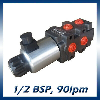 6 Port Hydraulic Diverter / Selector Valve 1/2 Ports, 90l/min, 280bar 12v or 24v