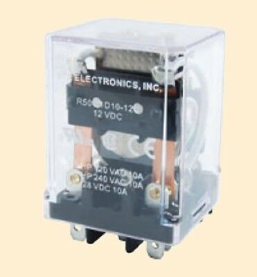 12 VDC 10 Amps Magnetic Latching Industrial Relay - NTE R50-11D10-12