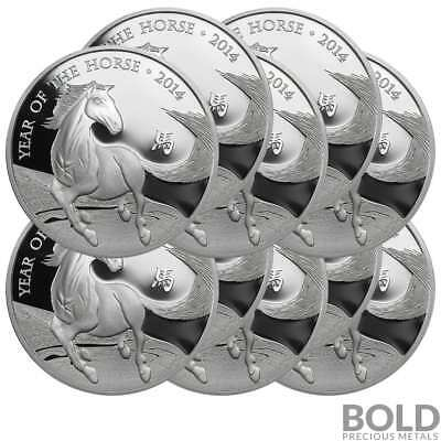 2014 Silver Great Britain Lunar Year of the Horse - 1 oz (10 Coins)