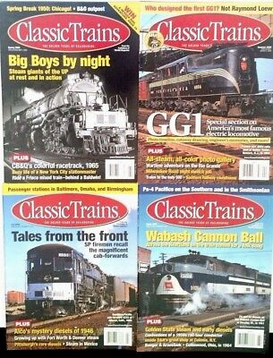 Lot Of (4) Clean Issues 2009 CLASSIC TRAINS Magazines Spring Summer Fall Winter
