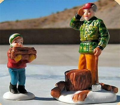 Dept 56 New England Village Woodcutter Cutter and Son ~MINT in Box