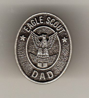 Eagle Scout Dad Recognition Pin, Oval Metal, Mint in Pkg!