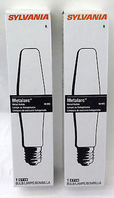 (2) Sylvania Metalarc M400/U/ET18-64575 M59/E 400W Clear Light Bulb