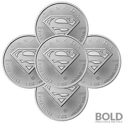 2016 Silver 1 oz Canada SUPERMAN (5 Coins)