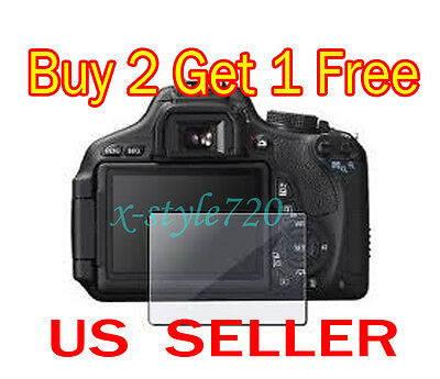 Canon EOS 600D Rebel T3i Clear LCD Screen Protector Guard Shield Film