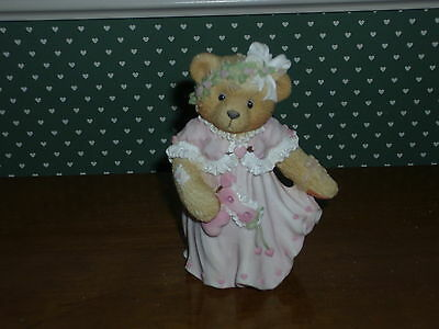 Cherished Teddies- Marian-Girl In Pink Dress/mask-Good Condition