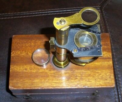Vintage Antique RARE DOCTOR MEDICAL LAB CIVIL WAR FIELD MICROSCOPE