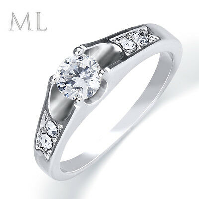 0.50 Ct 5-Stone Promise Engagement Wedding RING White Gold Plated SIZE 5-9