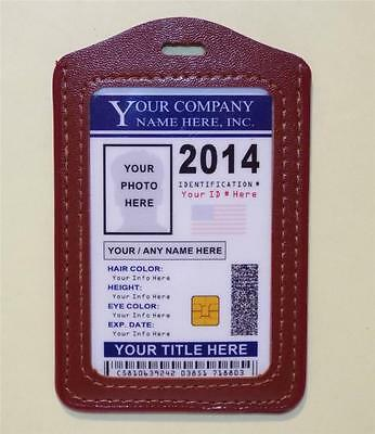 "Custom Company ID Badge ""2017"" >CUSTOM W/ YOUR PHOTO & INFO< Work - Employee ID"