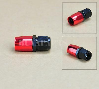 4 pcs Black Red AN6 -6AN Straight Swivel Oil/ Fuel/Gas Hose AN Fitting Adaptor