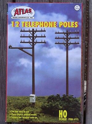Atlas #775 Telephone Poles kit (12 /set) HO SCALE