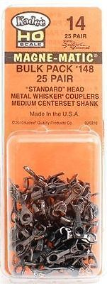KADEE #14 Couplers Bulk 25 Pair,  #148 whisker Couplers  HO Scale