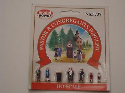 Model Power Paster & pulpit & figures MP5737 HO Scale 1:87