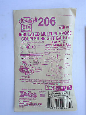 Kadee #206 Insulated Multi-Purpose Coupler Height Gauge HO Scale
