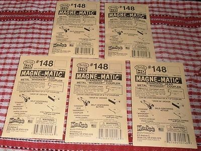 5 Packets Kadee HO #148 couplers whisker metal /spring + 24  1/4 inch Screws