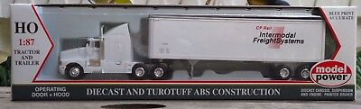 Model Power HO 17006 Die-cast truck and Trailer Cp Rail HO Scale