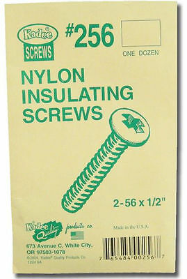 "Kadee #256  2-56 x 1/2"" Insulated Nylon Screw 3 Packets"