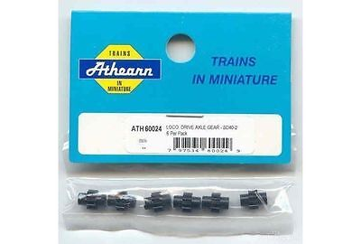 3 pack Athearn / Proto 2000 Axle Wheel Gears, ATH 140-60024 HO scale