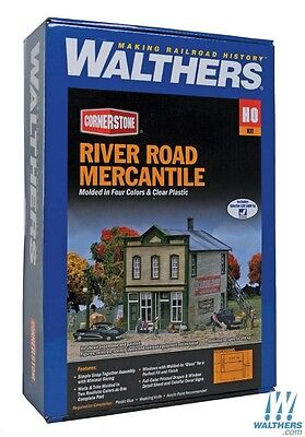 Walthers #933-3650 River Road Mercantile Building kit  HO SCALE FREE POST