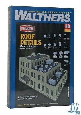 Walthers #933-3733  Roof Detail kit HO SCALE - Building kit