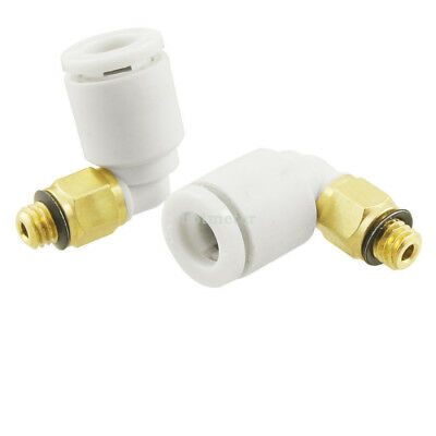 "10 Pcs 1/5"" to 15/64"" Tube 90 Degree Pneumatic Push in Quick Connectors"