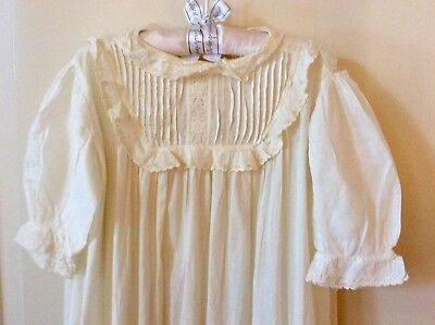 Antique/vintage Victorian Christening Baby Doll Gown